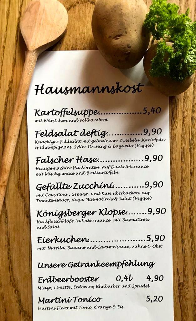 Wochenkarte Hausmannskost