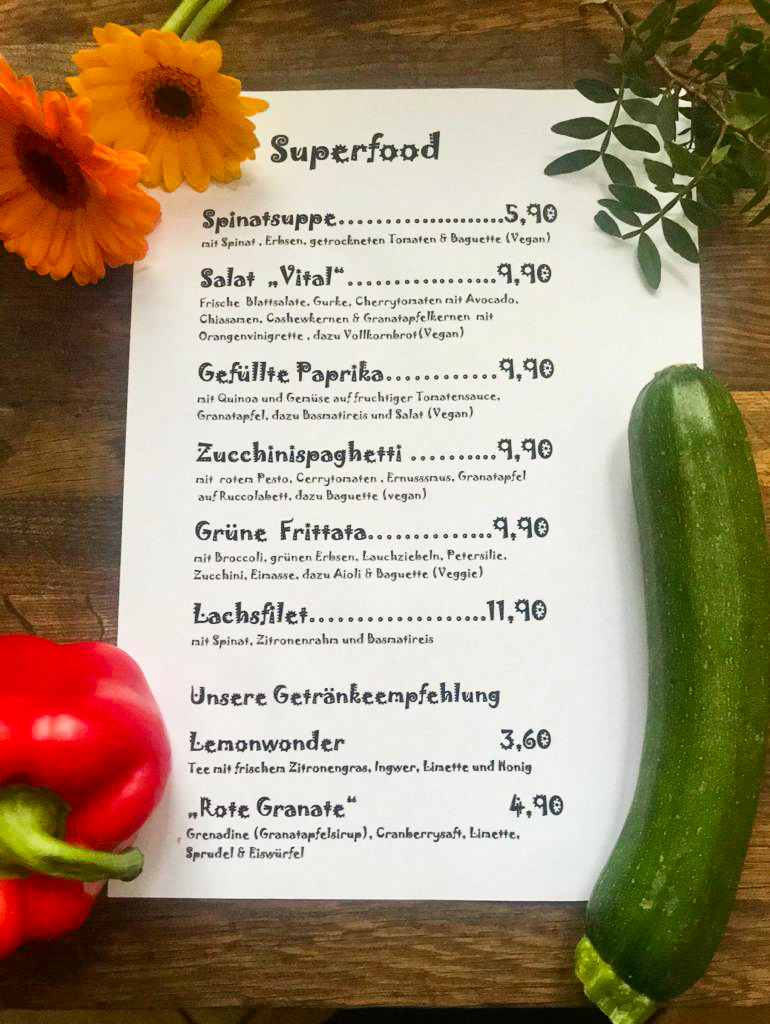 Wochenkarte Superfood