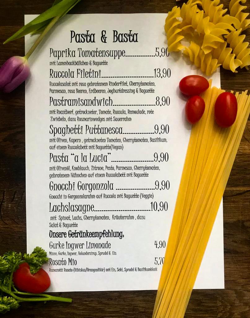 Pasta & Basta Wochenkarte