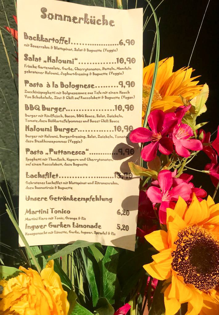 Barfly Wochenkarte Sommerküche