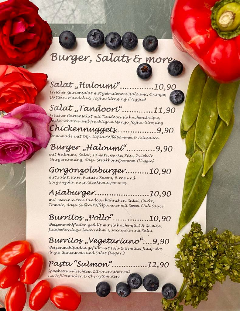 Aktionskarte Burger, Salads &more
