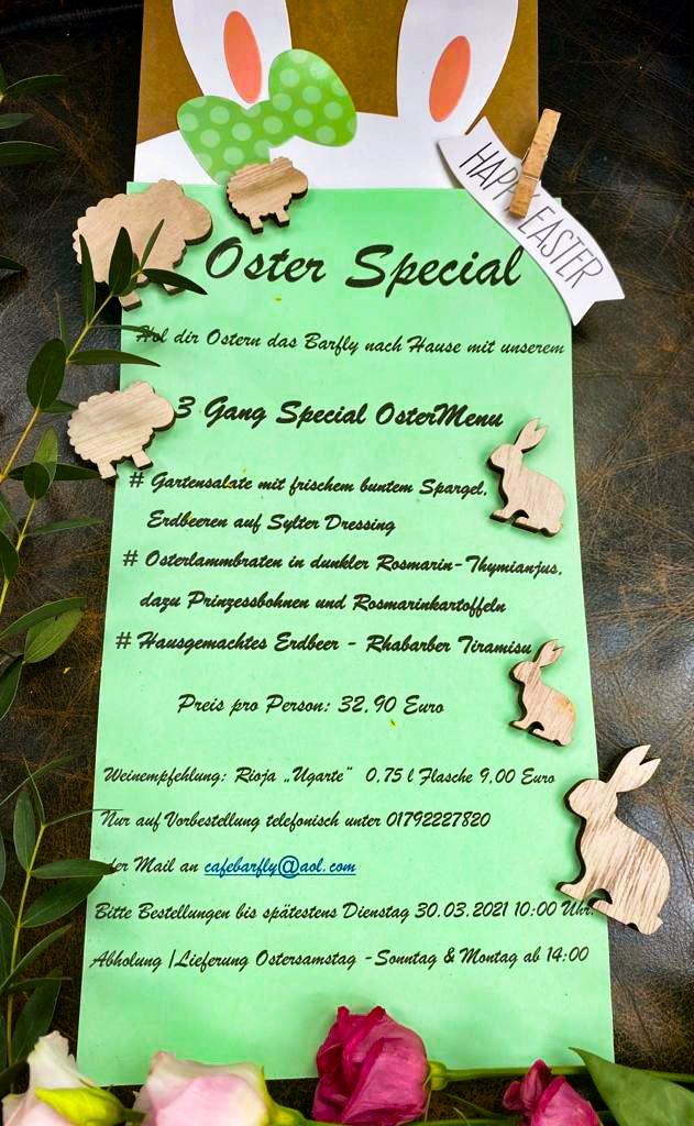 Osterspecial - dein Ostermenü vom Barfly