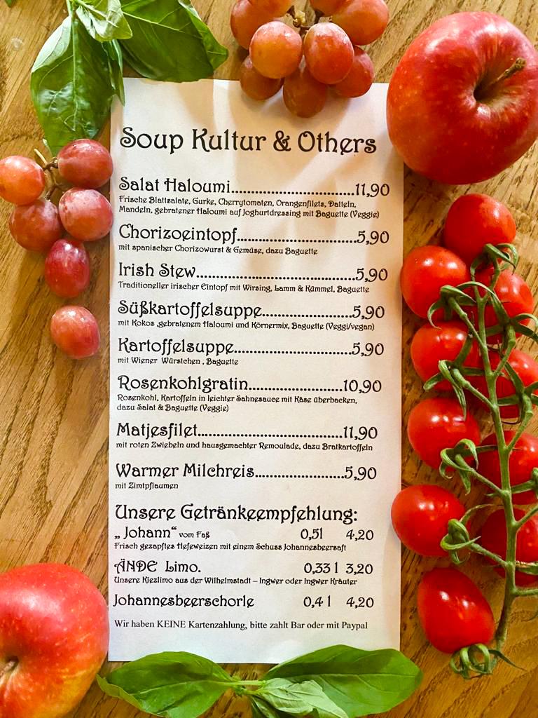 Sonderkarte Soup Kultur